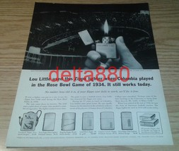 "1961 10"" x 13"" Original Print Ad Zippo Lighter Co Bradford, PA - $12.95"