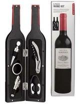 Wine Kit Bottled Set of 3pc Wine Accessories Wine Key Corkscrew Pourer &... - $13.84