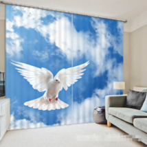 3D Bird Scenery025 Blockout Photo Curtain Print Curtains Drapes Fabric Window UK - $145.49+
