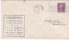 USS MACON ZRS-5 CHRISTENING AKRON OHIO MARCH 11 1933   - $14.94