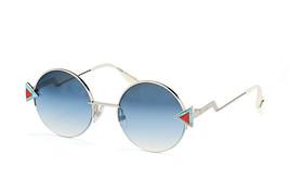 Fendi Rainbow Ff 0243/S SCB/NE Sunglasses Silver/Blue Gradient Round 51mm - $128.65