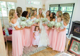 Coral Chiffon High Waist Full Maxi Skirt Coral Pink Wedding Chiffon Skirts image 14