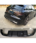S3 Carbon Fiber Rear Diffuser Fit For Audi S3 RS3 S Line Sportback 2014~... - $436.83