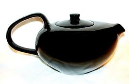 Teapot & Lid Russel Wright Black Pepper Oneida Mid Century design - $48.99