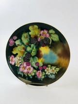 Antique MZ Austria Porcelain Plate flowers/Berries Pattern with Gilt Edg... - $24.75