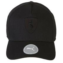 Puma Ferrari Black Logo Hat LS BB Wide Brim Strap Back Baseball Cap 022525 01 image 2