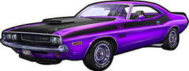 Purple Dodge Challenger by Michael Fishel Plasma Cut Metal Sign - $44.95