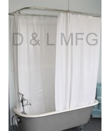 """Heavy Duty Clawfoot shower curtain Extra Large/White with Magnets 180"""" X... - $39.99"""