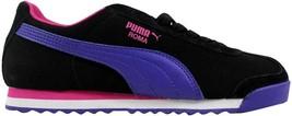 Puma Roma SL NBK 2 Black/Blue-Cabaret 355494 04 Women's SZ 6 - $35.44