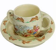 Royal Doulton Vintage BUNNYKINS  2-PIECE SET Bowl & Mug Bone China - $25.17