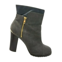 Juicy Couture Woman's Ankle Boots Gray Size 10 M Faux Suede Faux Leather - $32.10