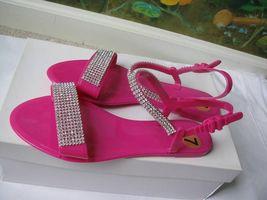 Bamboo Pink Rhinestone Open Toe Sandal Shoes SZ 7M New - $19.78