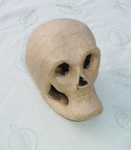 3D Paper Mache Skull Halloween Shape - DIY Day of the Dead Decoration - $1.99