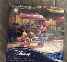 Disney Thomas Kinkade Ceaco Puzzle 750 Mickey and Minnie Sweatheart Cafe... - $29.99