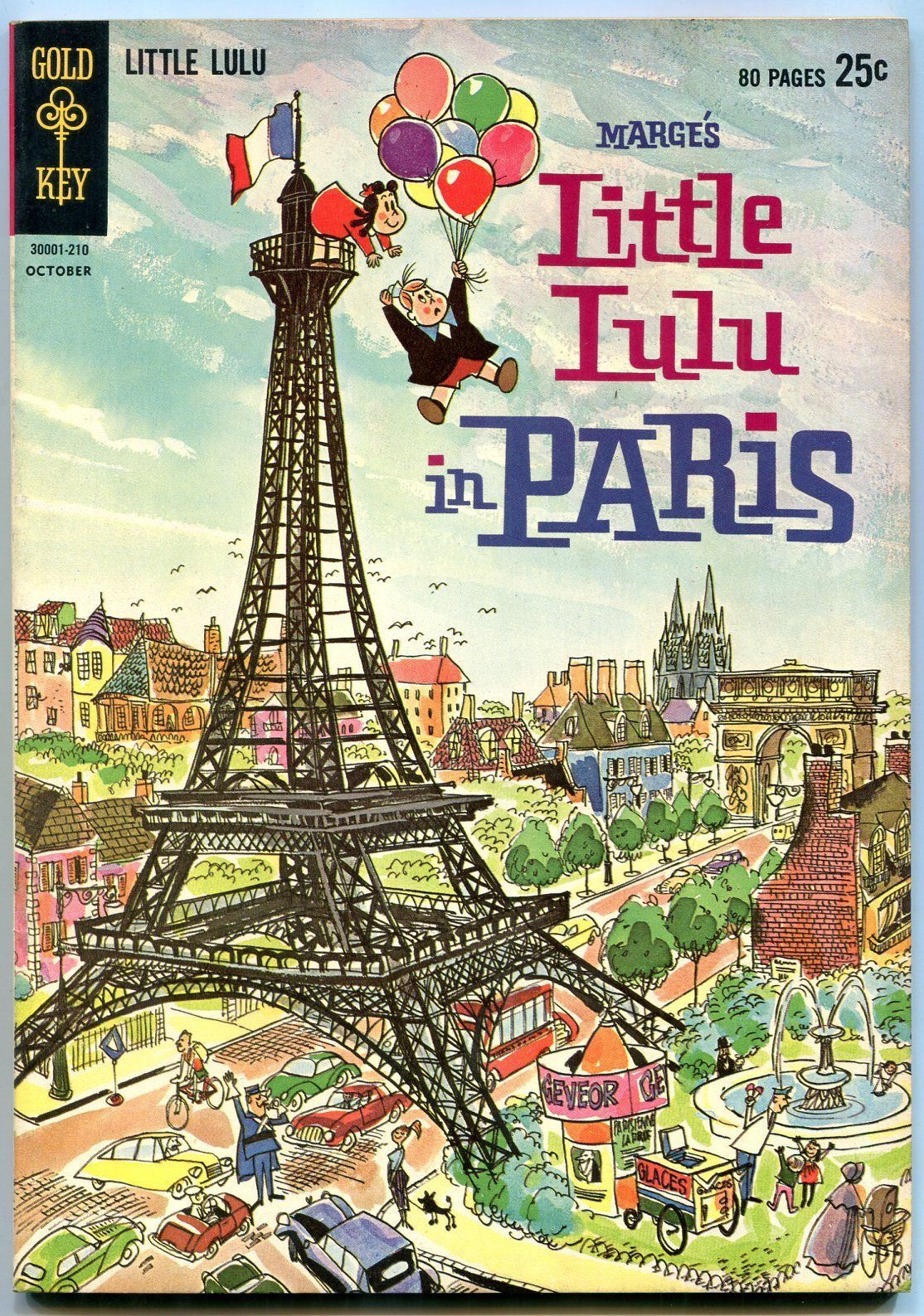 MARGE'S LITTLE LULU #165 1962-GOLD KEY-IN PARIS-GIANT VF/NM