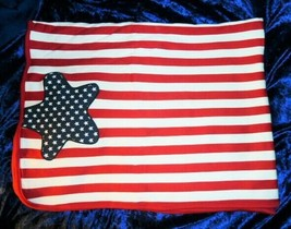 Gymboree Baby Red White Navy Blue Stars Stripes 4th of July Blanket 2002... - $98.99