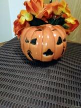 Vintage Haeger Ceramic Pottery Halloween Jack-O-Lantern Pumpkin Planter USA #311 image 2