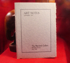 The Macbeth Gallery Art Notes January, 1919 - $39.20