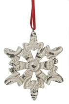"Midwest 3.25"" Distressed White Glittery Snowflake Christmas Ornament - $6.67"