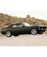 1969 Ford Mustang Coupe wrapped 24X36 inch poster, sports car, muscle car - $18.99