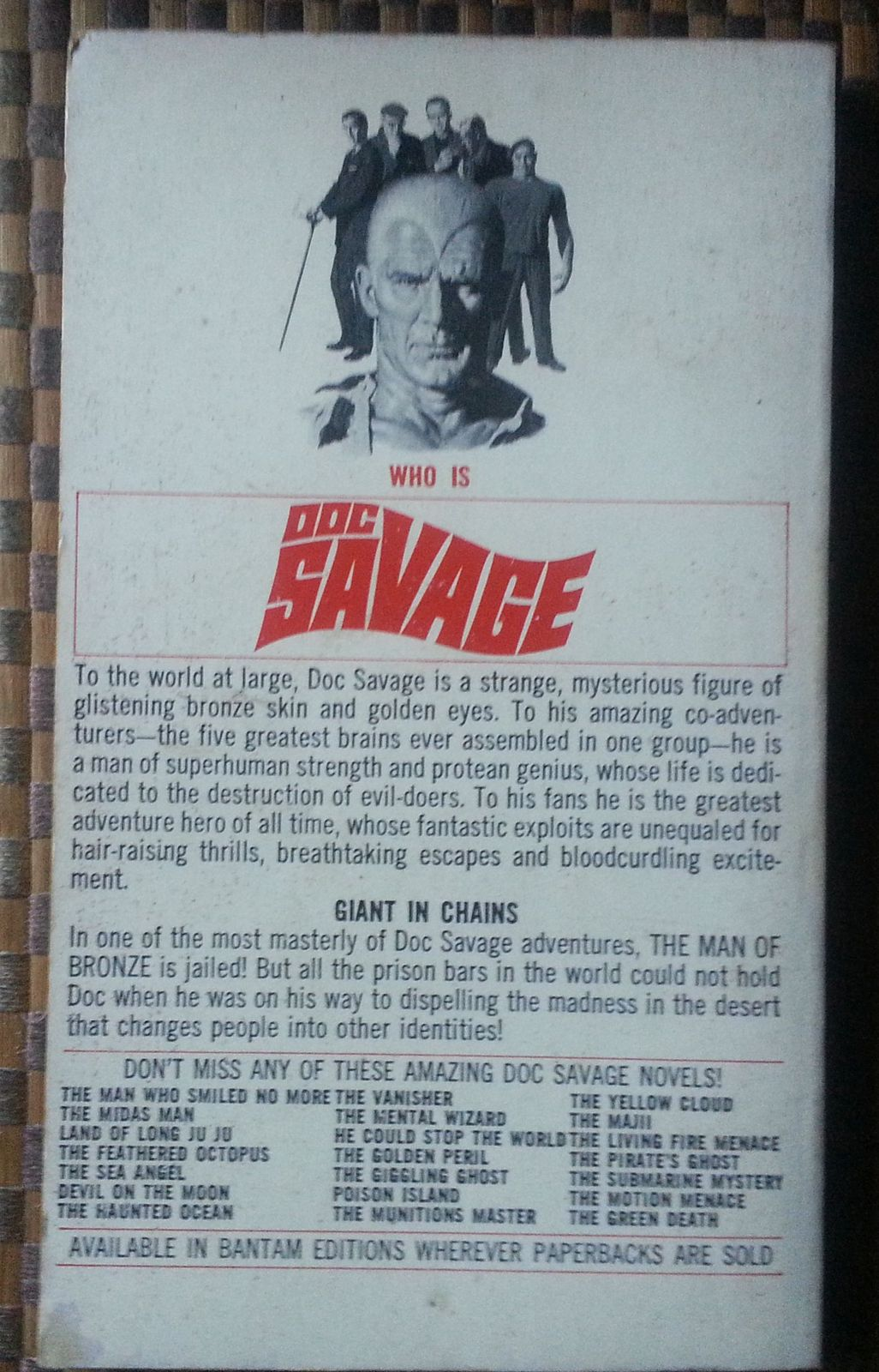Doc Savage  Mad Mesa  by Kenneth Robeson 1972 PB