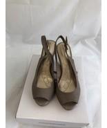 Giani Bernini Womens Peep Toe Sling Back Sandals dark taupe size 6.5 - $34.65
