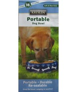 Krislin Portable Dog Bowls 18 fluid oz. Lot of 2 Water or Food Blue NEW - $10.91