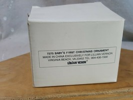 "Lillian Vernon Tree Ornament ""Baby's First Christmas"" 1994 New in Box - $10.39"