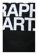 Dissizit Mens Black No Graphic Art T-Shirt Made in USA Compton California NWT image 2