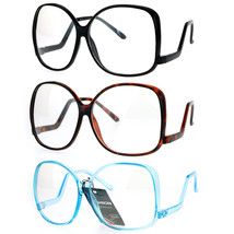 SA106 Womens Drop Temple Crooked Arm Swane Diva Clear Lens Eye Glasses - $9.95