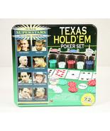 NEW Texas Hold'em Poker Set Poker Superstars Invitational Tournament- Lg... - $24.74