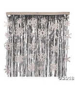 Foil Snowflake Fringe Curtain Backdrop - $19.11