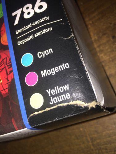 Genuine OEM Epson 786XL Black+786 Color (Cyan,Magenta,Yellow) Ink; Exp:01.2020