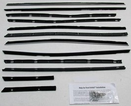 1968-1969 Lincoln 4 Door Sedan Window Beltline Weatherstrip Kit 12 pieces - $236.61