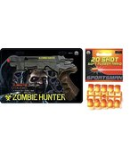 Parris Zombie Hunter Toy Air Soft Gun with 20 Soft Rubber Ammo - $29.39