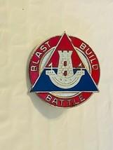 US Military 16th Engineer Battalion Insignia Pin - Blast Build Battle - $10.00