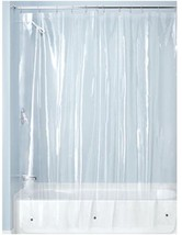 InterDesign PEVA 3 Gauge Shower Curtain Liner - Mold/Mildew Resistant, PVC  - $8.10