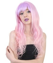 Long Wavy Pink and Purple Ombre Wig  - $30.85 - $31.85