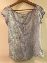 Womens Abercrombie & Fitch Sheer Blue Blouse Size M Medium - $29.95