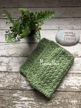 Handmade Crochet Dishcloths Set Kitchen Dish Cloths Sage Green Wash Clot... - $18.75