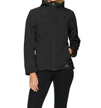 Small 4-6 Women's White Sierra New Moon Hooded Softshell Jacket Waterproof Black