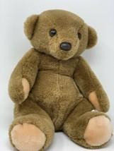 "EDEN TOYS PLUSH BROWN TEDDY BEAR POTBELLY SITTING SOFT STUFFED ANIMAL 13"" - $28.70"