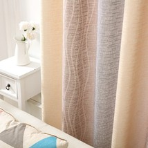 CURTIANS Style Curtain White Silk Cotton Hemp Color Gradient Shading Pri... - $12.69