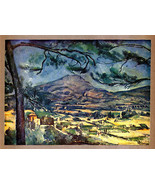 PAUL CÉZANNE 1935 LITHO PRINT w/COA. $ $ UNIQUE EXAMPLE of 'must have' R... - $179.00
