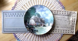 Thomas Kinkade STONEGATE COTTAGE Plate 8th Issue In Garden Cottages COA ... - $11.00