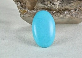 NATURAL ARIZONA TURQUOISE OVAL CABOCHON 20.05 CARATS GEMSTONE FOR RING P... - $114.00
