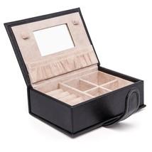 HEZALA Small Jewelry Box, PU Leather Travel Jewelry Organizer Lockable S... - €34,75 EUR