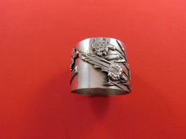 Flora by Shiebler Sterling Silver Napkin Ring #3006 w/ Applied Carnations  - $389.00