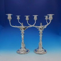 Chrysanthemum by Tiffany and Co Sterling Silver Candelabra Pair 3-Light (#3404) - $75,000.00