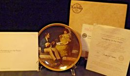 """""""Pondering on the Porch"""" by Norman Rockwell Plate with Box AA20-CP2220B Vintage image 3"""